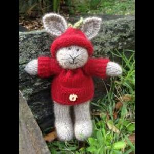 Apple Bunny Knitting Pattern