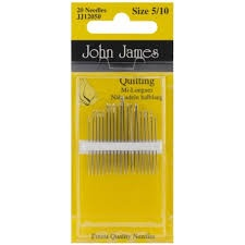 John James Quilting Needles Size 5/10