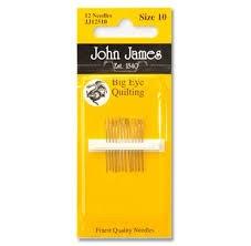 John James Big Eye Quilting Needles Size 10