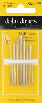 John James Milliners Needles Size 3/9