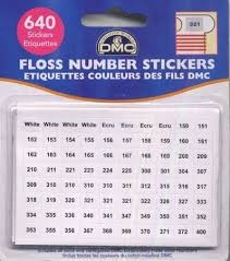 DMC Floss Number Stickers