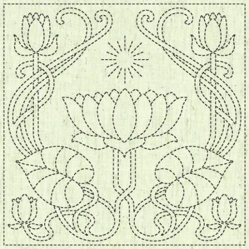 Sashiko Cloth Panel -Serenity